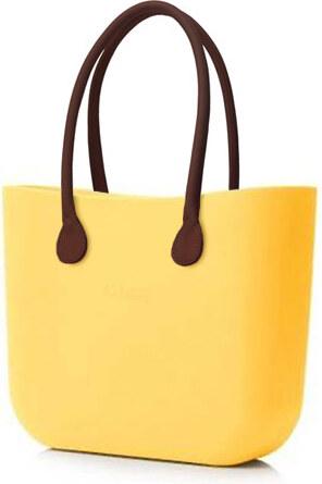 O bag kabelka žlutá s držadlem koženka hnědá - Glami.cz 988b1e72893