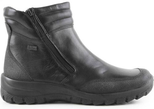 Rieker - Dámské zimní zateplené kotníkové boty se dvěma zipy eeb1689934