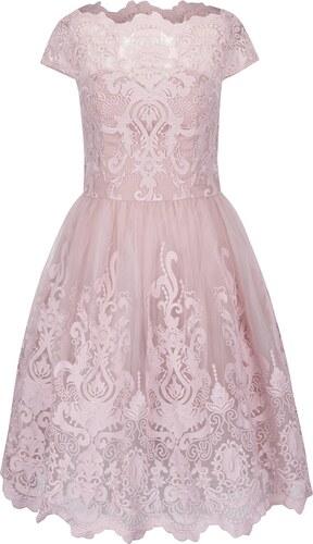 adfde473e01b Staroružové šaty s čipkovaným topom Chi Chi London - Glami.sk