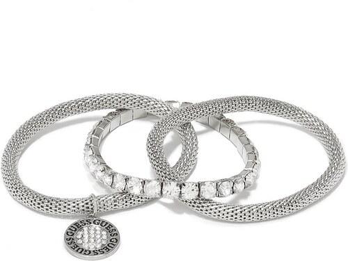 GUESS náramok Guess Silver Tone Stretch Bracelet Set strieborný ... 48a2ab2be12