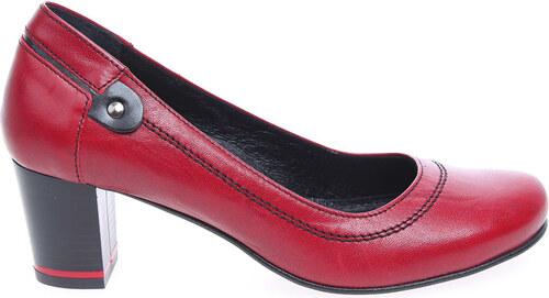 Rejnok Dovoz Barton dámské lodičky 2414 3 červená 2414 3 - Glami.cz c1a03d1dc7