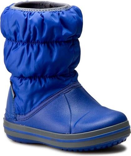 Snehule CROCS - Winter Puff Boot Kids 14613 Cerulean Blue Light Grey ... d664876084