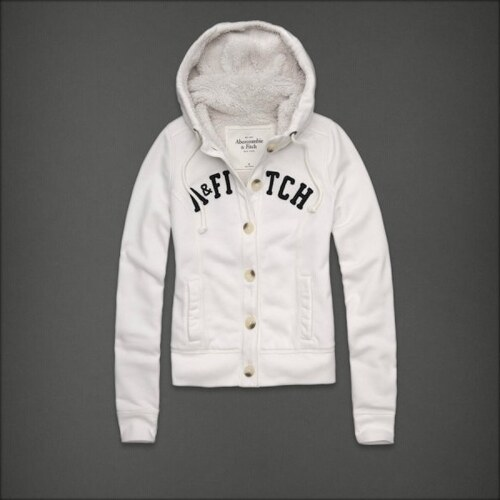 Abercrombie Fitch dámská zimní mikina s kožíškem bílá - Glami.cz dc71a571f1