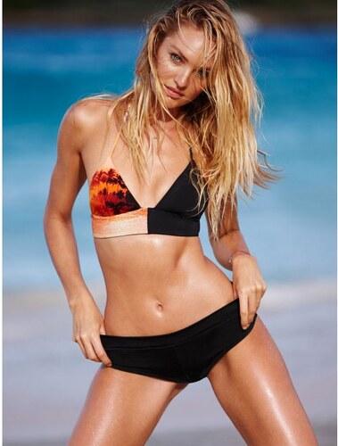Dámské plavky Victorias Secret černé se vzorem palem - Glami.cz 7cbd8f983f9