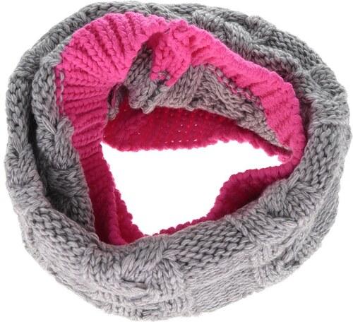 Růžovo-šedá holčičí dutá pletená šála 5.10.15. - Glami.cz 81314d732f