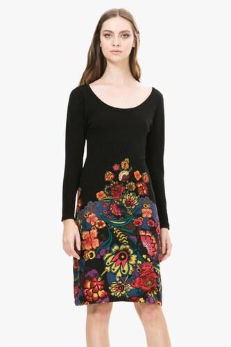 a6a8d6aa9bbe Desigual čierne úpletové šaty Martina - Glami.sk