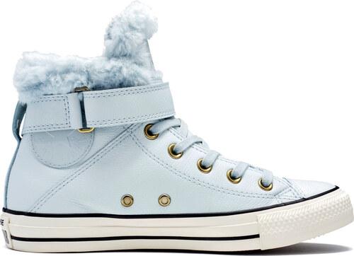 Converse světle modré kožené dámské boty Brea s kožíškem - Glami.cz 0c41e861a96