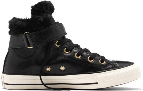 Converse čierne kožené dámske topánky Brea s kožušinkou - Glami.sk 6768ad3dca