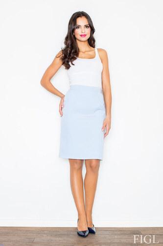 997cb9e9d9c5 FIGL Dámska svetlomodrá púzdrová biznis sukňa M308 - Glami.sk
