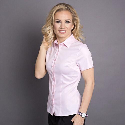 Dámská košile Willsoor 6181 s krátkým rukávem v růžové barvě d33ffa503f