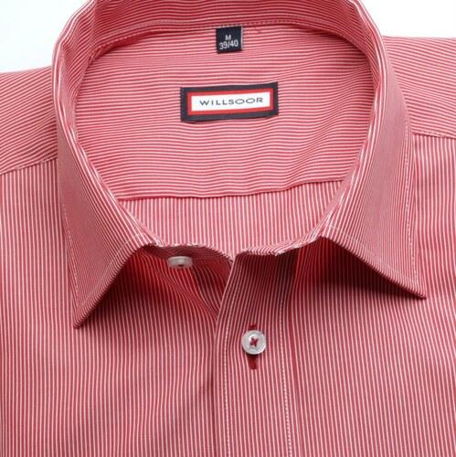 405da5f5aa5 -6% Willsoor Pánská slim fit košile (výška 188-194) 6722 v červené barvě s