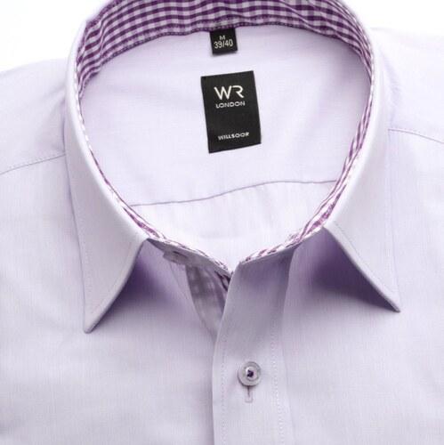 52a5db86975 -6% Willsoor Pánská slim fit košile (výška 176-182) 6844 ve fialkové barvě s