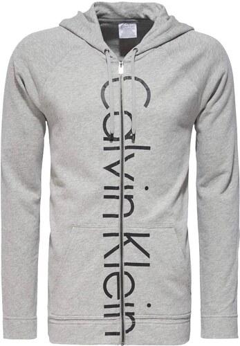 Calvin Klein šedá pánská mikina Hooded Jacket - XL - Glami.cz 8962012018