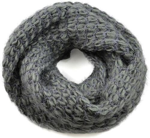 acc33127e9d Tunelová pletená šála 69tz001-71c - šedá - Glami.cz