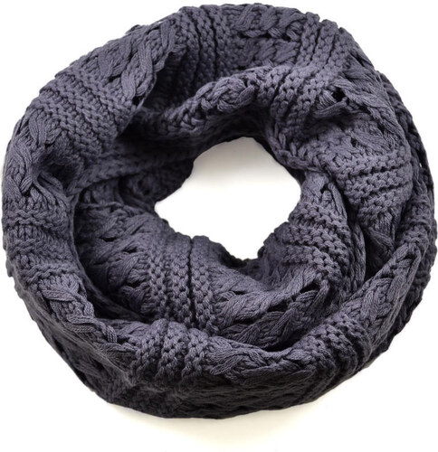 Tunelová pletená šála 69tz001-71d - šedá - Glami.cz 8e3820d0a7