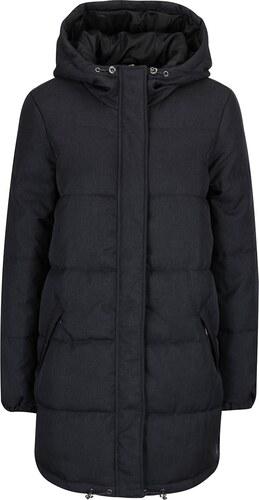 Tmavosivý prešívaný kabát s kapucňou Vero Moda Ricarda - Glami.sk 086aed314bc
