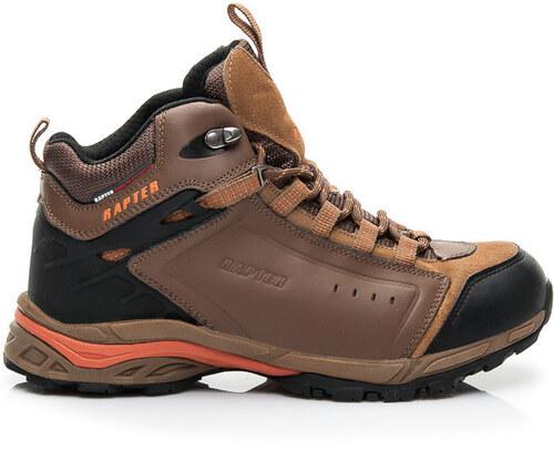 11d0ba4578f02 RAPTER Pánske hnedé luxusné trekingové topánky - Glami.sk