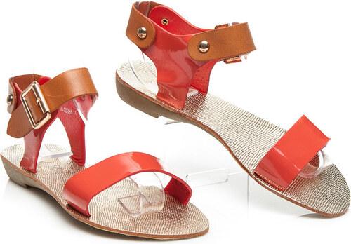 84f8b0326733 Červené sandále - Glami.cz