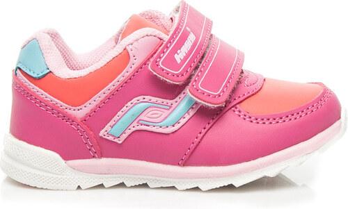 34b24d38fe4c HASBY Dívčí růžové tenisky na suchý zip - 2003A-F odtiene farieb  ružová