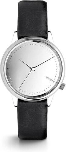Dámske hodinky s čiernym koženým remienkom Komono Estelle Mirror ... 480d605aeee