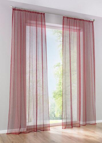 bpc living bonprix voilage nolan 1 pce rouge pour maison. Black Bedroom Furniture Sets. Home Design Ideas