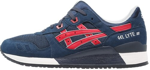 f225bc0ab708f Asics Tiger GELLYTE III Baskets basses indian ink tango red - Glami.fr