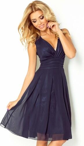 S-a-F Luxusní dámské společenské a plesové šifonové šaty SHIM.cz KARA 355  tmavě modré 197266aa47