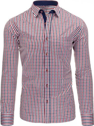 ec563934756 Pánská kostkovaná košile Viadi Polo - červeno-modro-bílá - Glami.cz