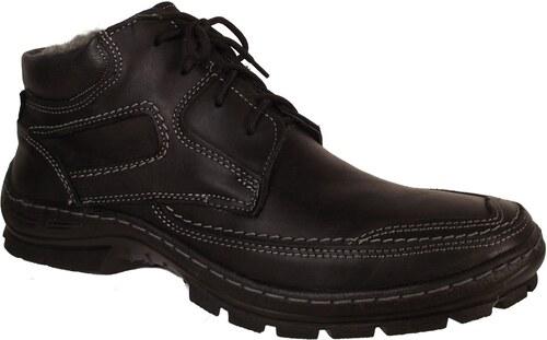 6303aec96c Pánské zimní kožená obuv Madler 404 černá - Glami.cz