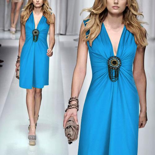 Ever-Pretty Krátké modré šaty pro každou příležitost - Glami.cz bfb0e0e339