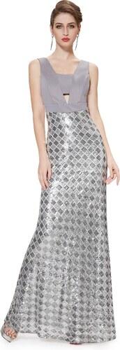 a498aa33ee03 Ever-Pretty Šedé šaty s kovovými odlesky - Glami.cz