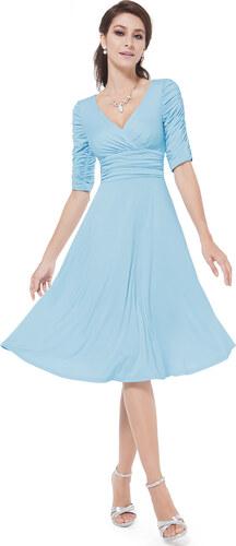 Ever-Pretty Strečové světle modré šaty pro každou příležitost - Glami.cz 41a90aec5d