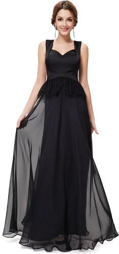 Ever-Pretty Černé šaty se širokými ramínky - Glami.cz 0ef4050250