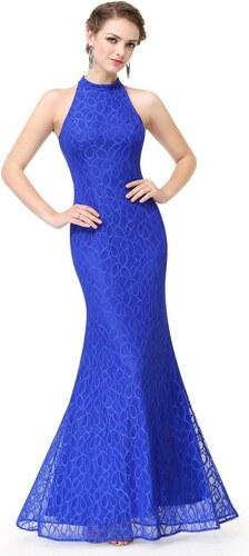Ever-Pretty Zářivě modré krajkové šaty střihu mořské panny - Glami.cz 4b7001c9040