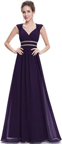a8a61545d8f2 Ever-Pretty Tmavě fialové šaty inspirované antikou ze šifonu - Glami.cz