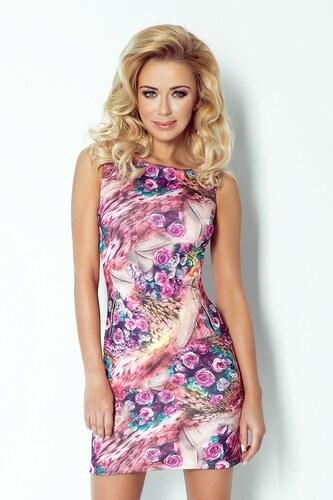 Numoco Dámske šaty SAF 75-2 kvetované ružové - Glami.sk 4645935c599