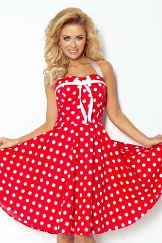 1f399c3056ce NUMOCO Dámské šaty Pin Up červené - Glami.cz