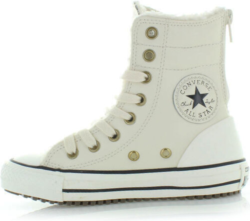Dětské bílé vysoké tenisky Converse Chuck Taylor All Star Hi-Rise Boot bcff0dae735
