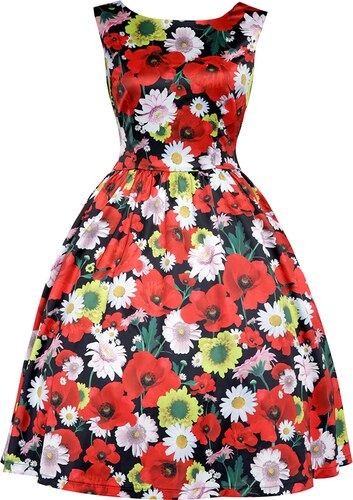 f0e8a2e7ee10 LINDY BOP Dámské retro šaty Annie květinové - Glami.cz
