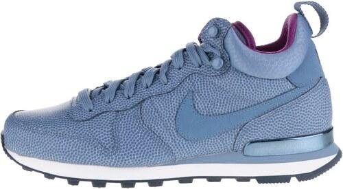 7fb1fcdf64d Modré kožené dámské kotníkové tenisky Nike Internationalist Mid Leather