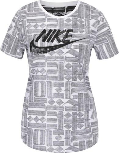 de30d1911e92 Sivo-krémové dámske tričko s krátkym rukávom Nike - Glami.sk