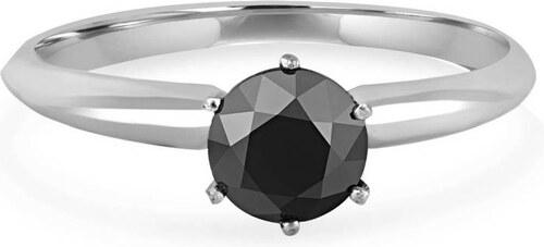Eppi Zlatý zásnubní prsten s černým diamantem Landia - Glami.cz 114a4d825ee
