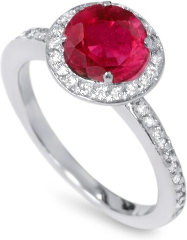 Eppi Rubínový zásnubný prsteň plný diamantov Ursa - Glami.sk 48509ea99ed
