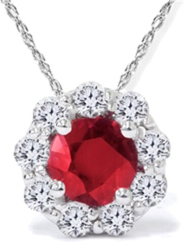 3204f6b38 Eppi Vášnivý rubín a diamanty v zlatom náhrdelníku Otrera - Glami.sk