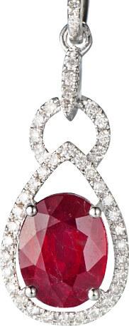 5f01d6f26 Eppi Zlatý náhrdelník s rubínom obklopený diamantmi Edna - Glami.sk