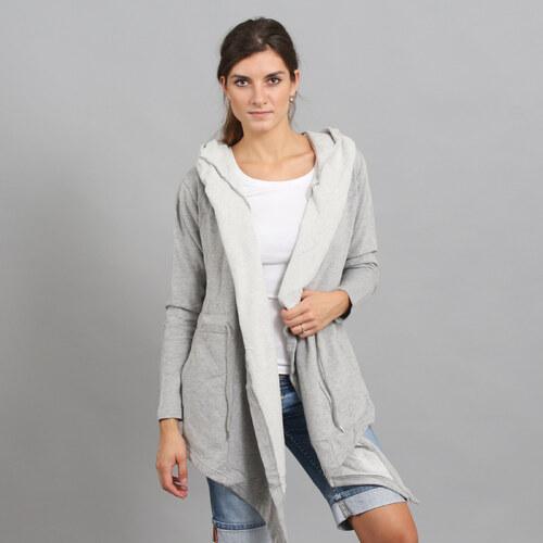 56b6d0f1e5 Urban Classics Ladies Hooded Sweat Cardigan melange šedý - Glami.cz