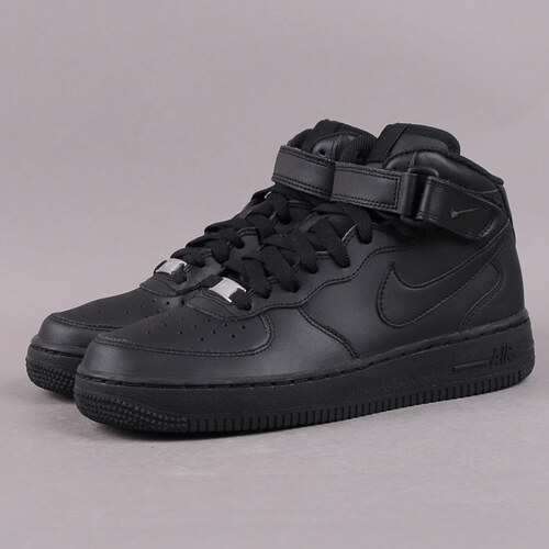 Nike Air Force 1 MID (GS) black   black - Glami.sk df06341b093