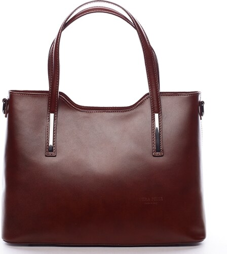 Delami Vera Pelle Elegantní kožená dámská kabelka do ruky Hilary ... 4994e713577