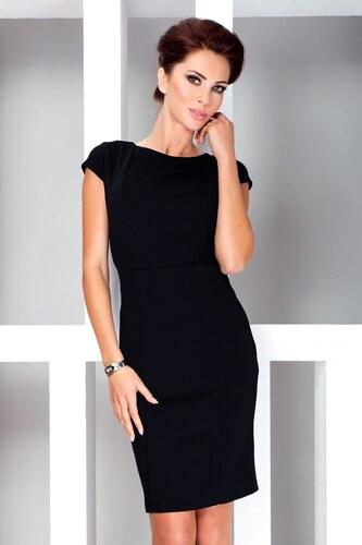 Numoco Elegantné dámske šaty čierne 37-3 - Glami.sk c9121ebad74