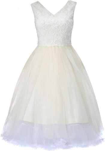 Retro šaty Lindy Bop Anais cream - Glami.cz 8f83c69ca7d